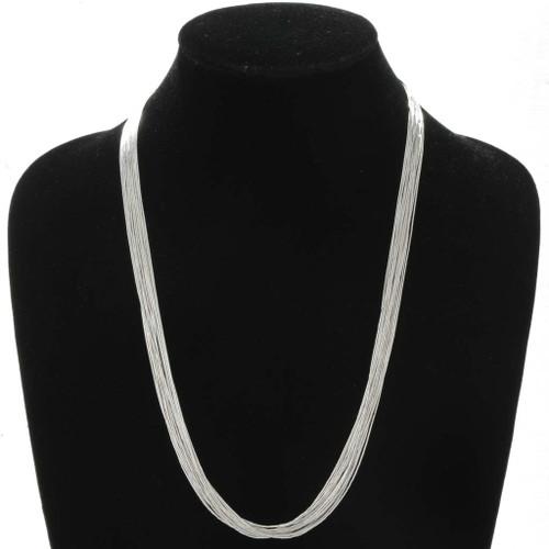 20 Strand Liquid Silver Necklace 32634