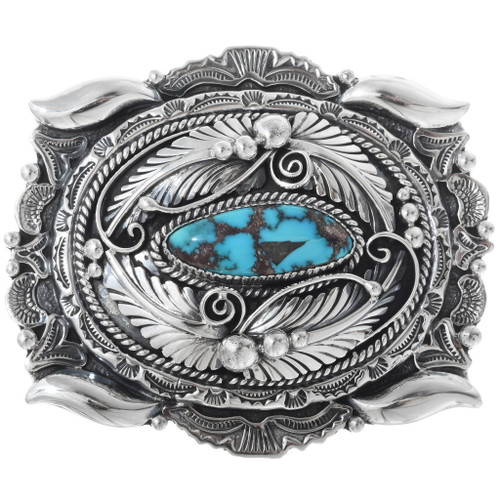Turquoise Sterling Belt Buckle 19257