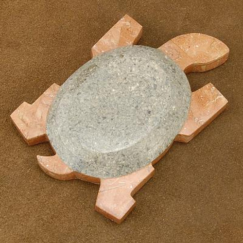 Marble Turtle Table Sculpture