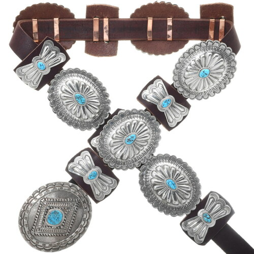 Navajo Full Size Concho Belt 15764