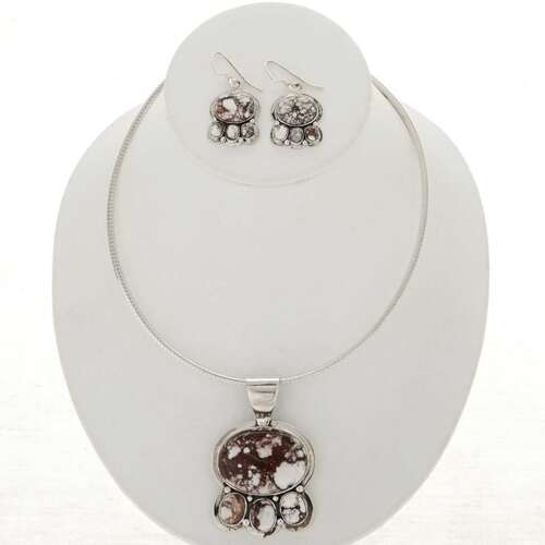 Wild Horse Magnesite Necklace Set 26814