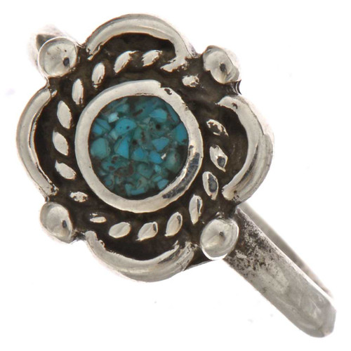 Turquoise Silver Ring 25502