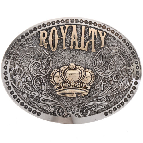 Silver Gold Custom Rodeo Belt Buckle 21665