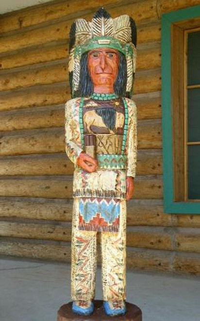 Hand Carved Cigar Store Indian 33989