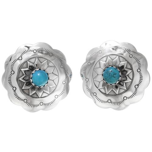 Turquoise Concho Earrings 22685