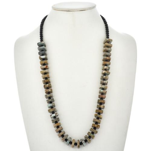 Nevada Turquoise Black Onyx Necklace 2325