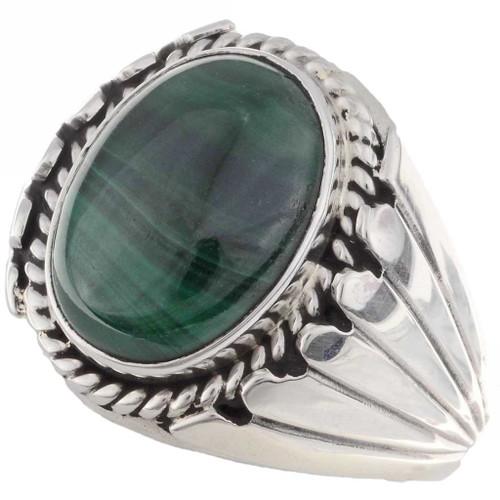 Malachite Mens Ring 17354