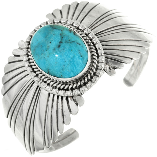 Turquoise Silver Cuff Bracelet 23910