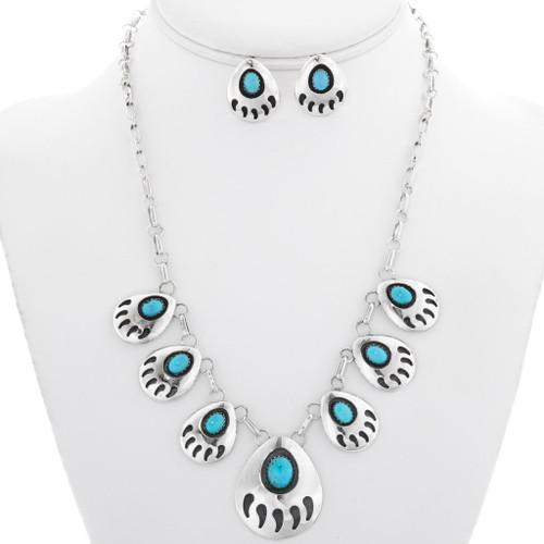 Navajo Turquoise Jewelry Set 25369