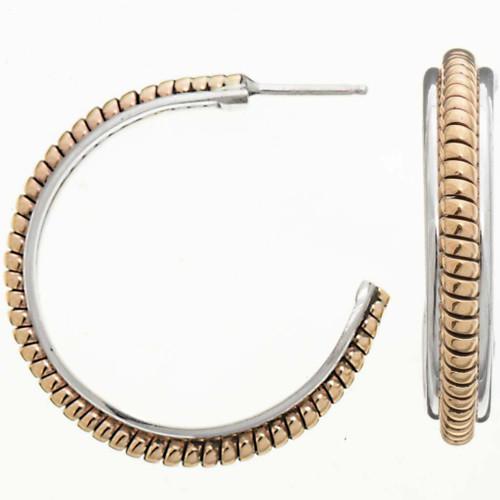 Gold Twist Wire Earrings 25910