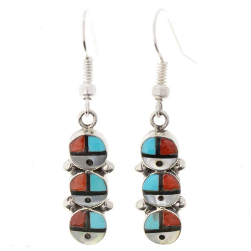 Zuni Triple Sunface Earrings 26385
