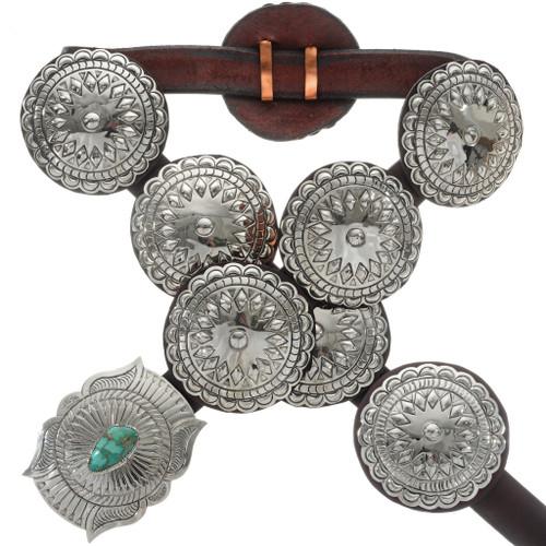 Navajo Silver Concho Belt 14374