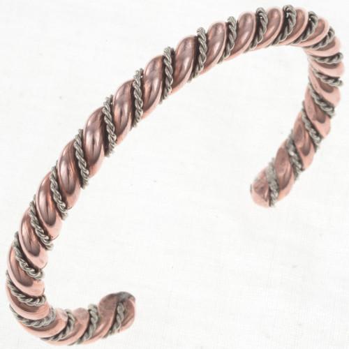 Navajo Copper Silver Bracelet 31729