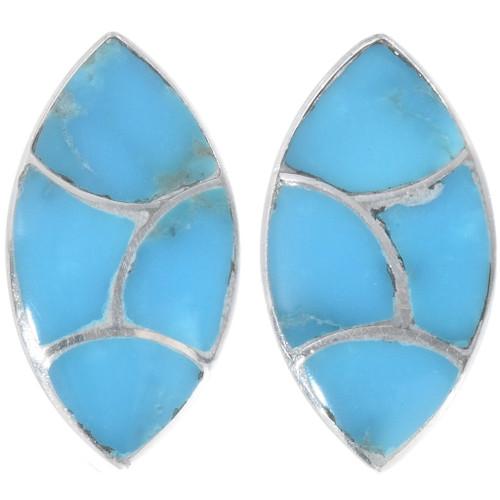 Turquoise Inlay Earrings by Orena Leekya 26402