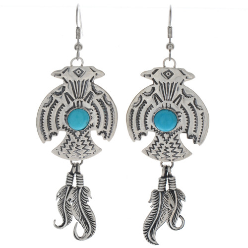 Hammered Silver Thunderbird Earrings 23839