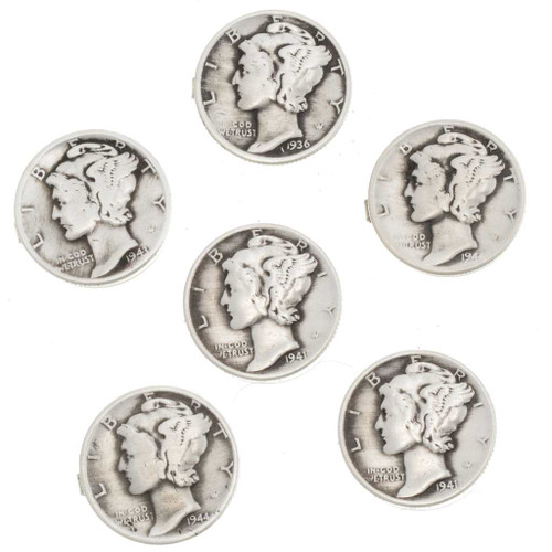 Mercury Dime Button Cover 14637