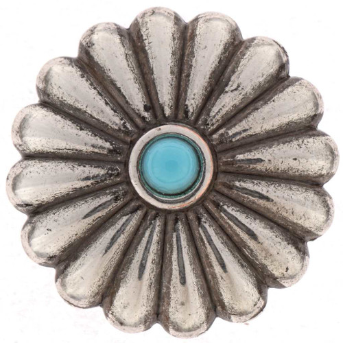 Turquoise Silver Concho 25477