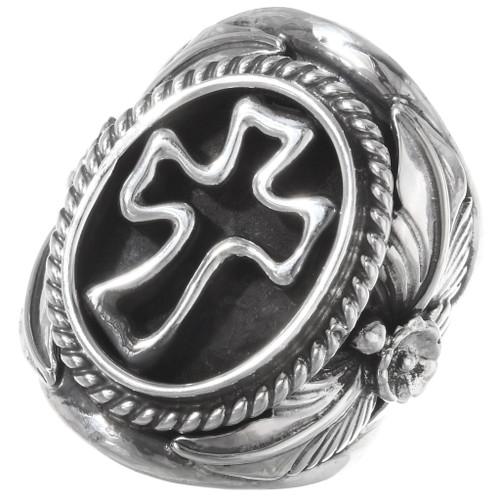 Sterling Silver Navajo Cross Ring 23018