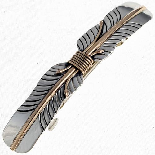 Gold Silver Navajo Barrette 24360