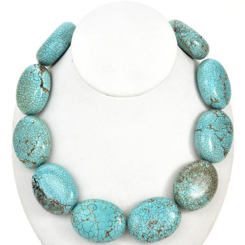 Large Turquoise Magnesite Beads 30875