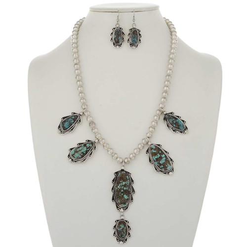 Bisbee Turquoise Necklace Set 17366