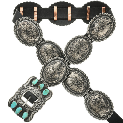 Turquoise silver Concho Belt 23024