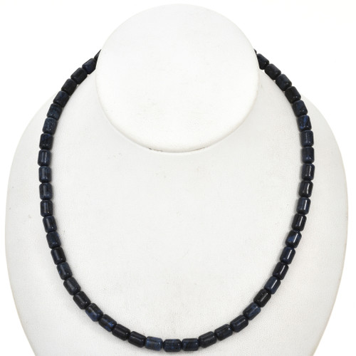 6mm by 8mm Dumortierite Beads 16 inch Strand