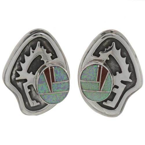 Inlaid Opal Southwest Earrings 26774