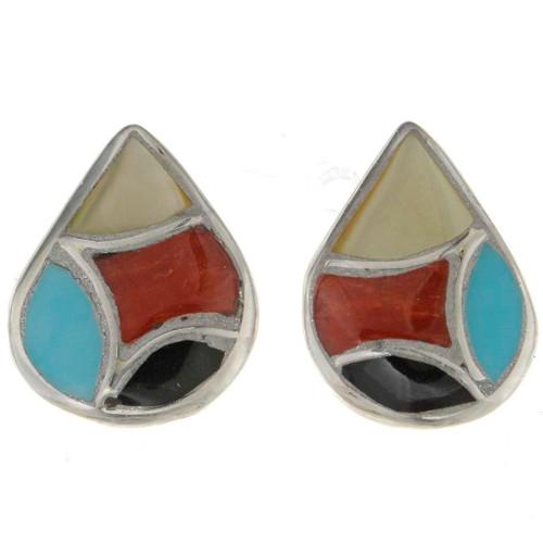 Inlaid Teardrop Earrings 26384