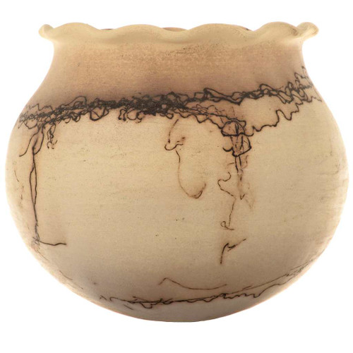 Horsehair Fluted Rim Pottery 15494