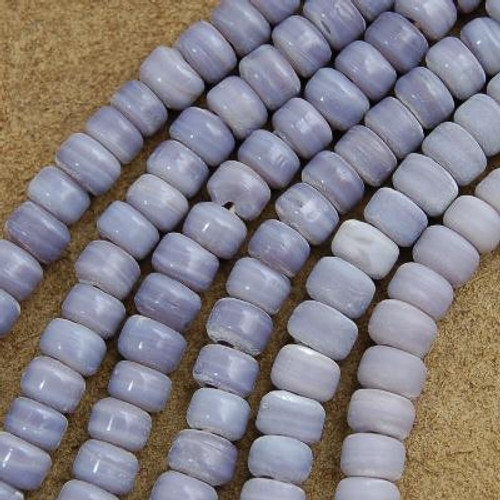 9mm Lavender Glass Trade Beads 22 inch Strand