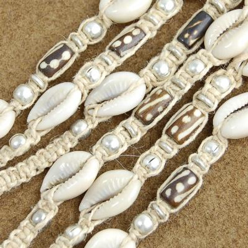 Wholesale Lot of 12 Cowrie Shell Bead 19 inch Long Strands 1