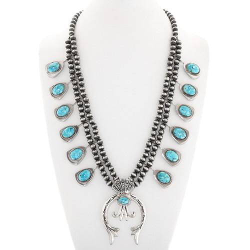 Turquoise Squash Blossom Necklace 26433