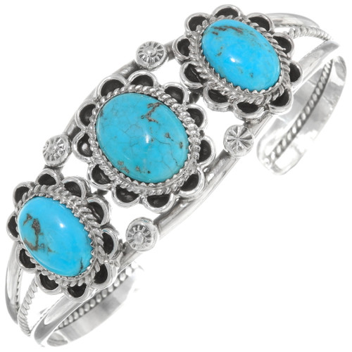 Ladies Turquoise Silver Cuff Bracelet 27740