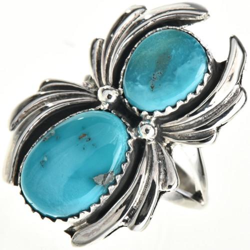 Navajo Turquoise Silver Ladies Ring 29091