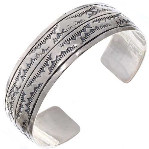 Navajo Hammered Silver Cuff 25655