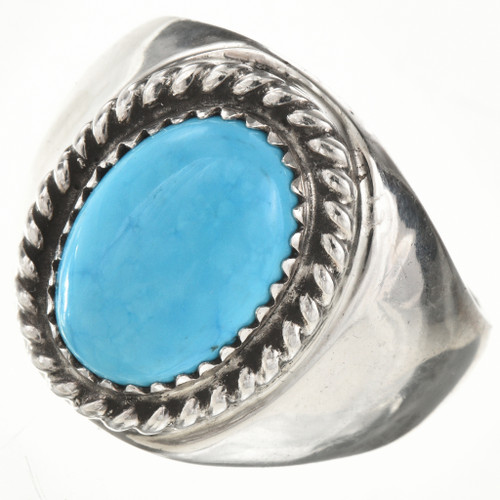 Native American Turquoise Mens Ring 26936