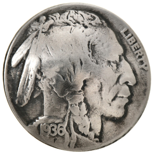 Indian Head Nickel Button Concho 22809