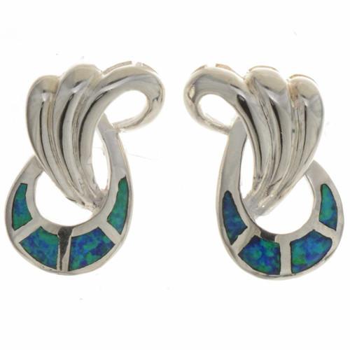 Opal Silver Swirl Earrings 26775