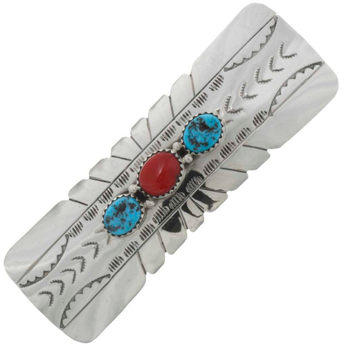 Turquoise Coral Hair Barrette 26452