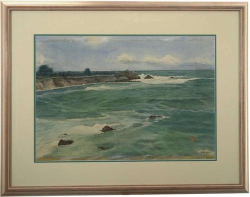 Original Seascape Watercolor 27154
