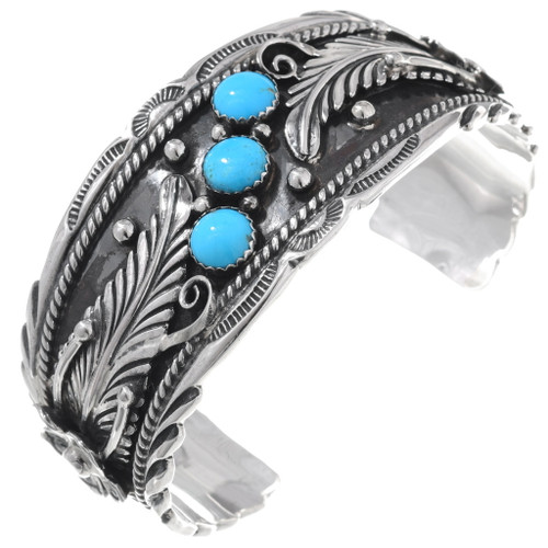 Turquoise Silver Cuff Bracelet 27430