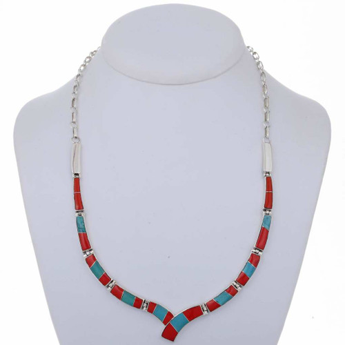 Turquoise Coral Necklace 16362