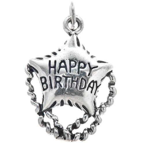 Sterling Silver Happy Birthday Charm 35446