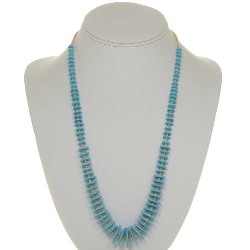 Turquoise Disc Heishi Necklace 26268