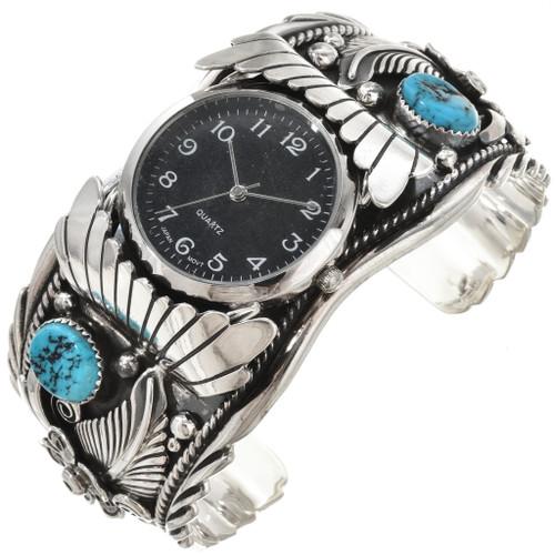 Natural Kingman Turquoise Watch Cuff 24043
