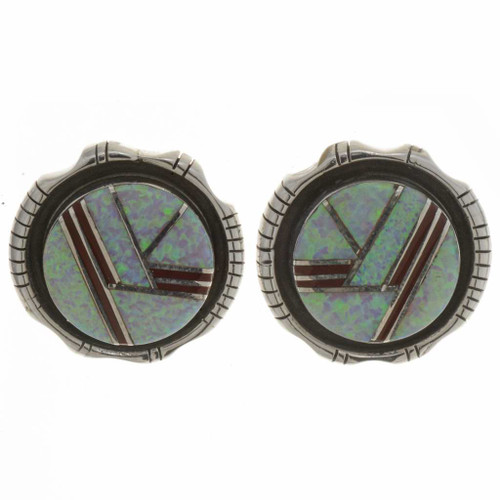 Inlaid Opal Earrings 26776