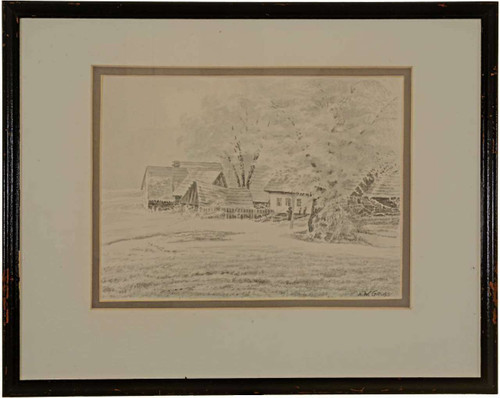 Original Landscape Ink Wash 27186