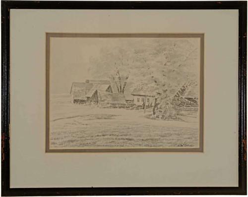 Original Landscape Ink Wash 27186