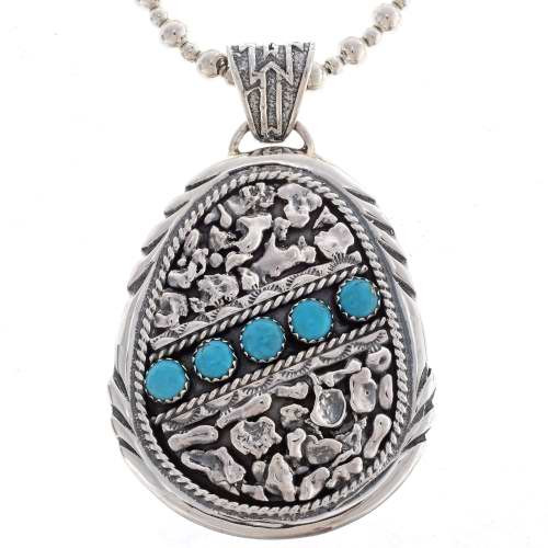 Turquoise Cluster Pendant 25646